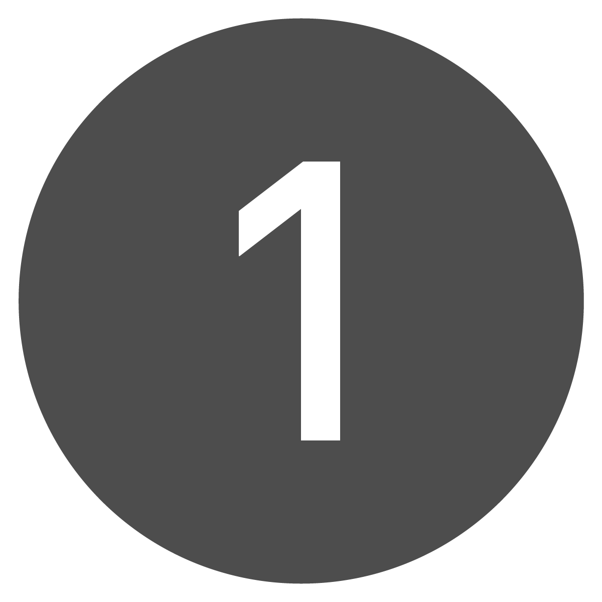 Circle button of the number one.