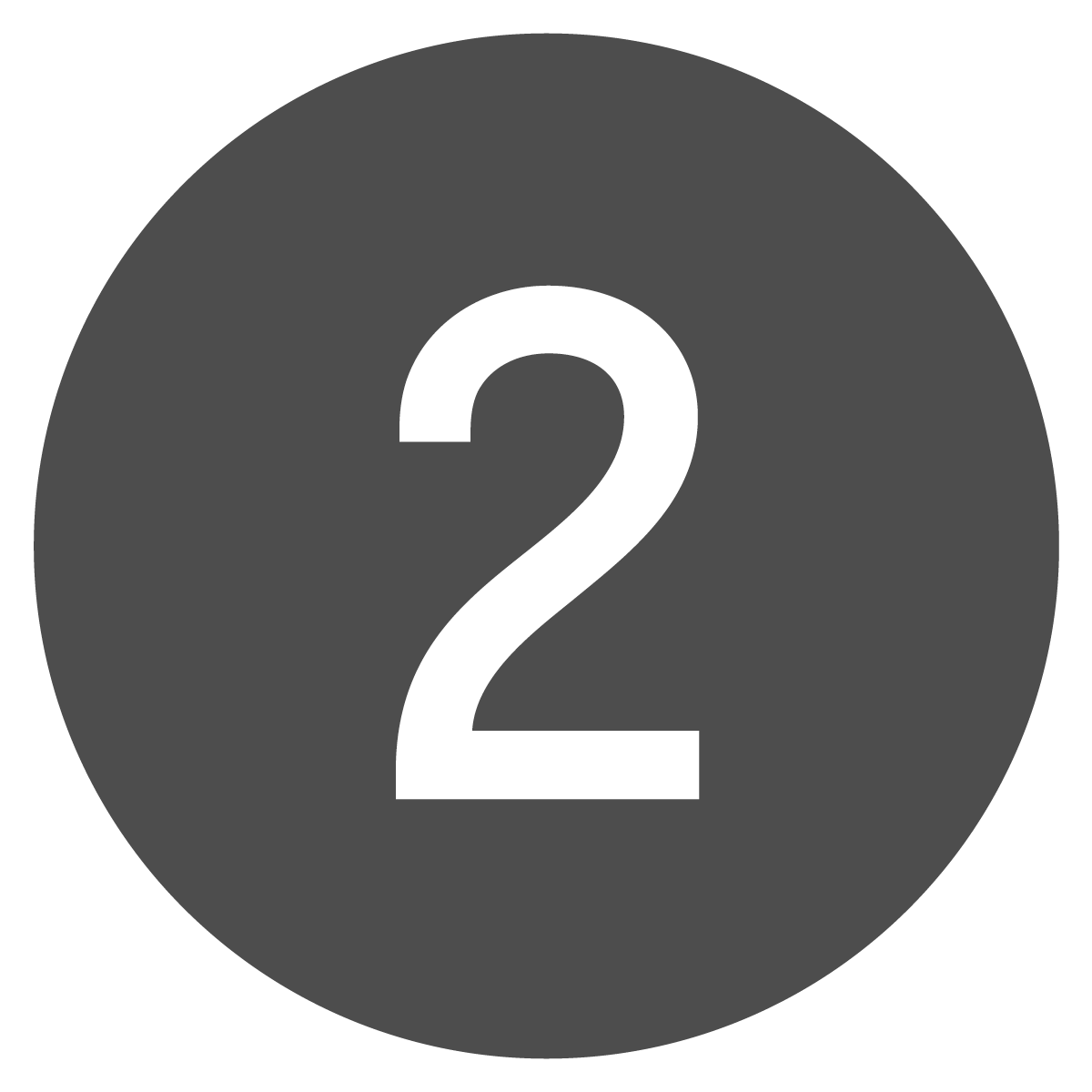 Circle button of the number two.