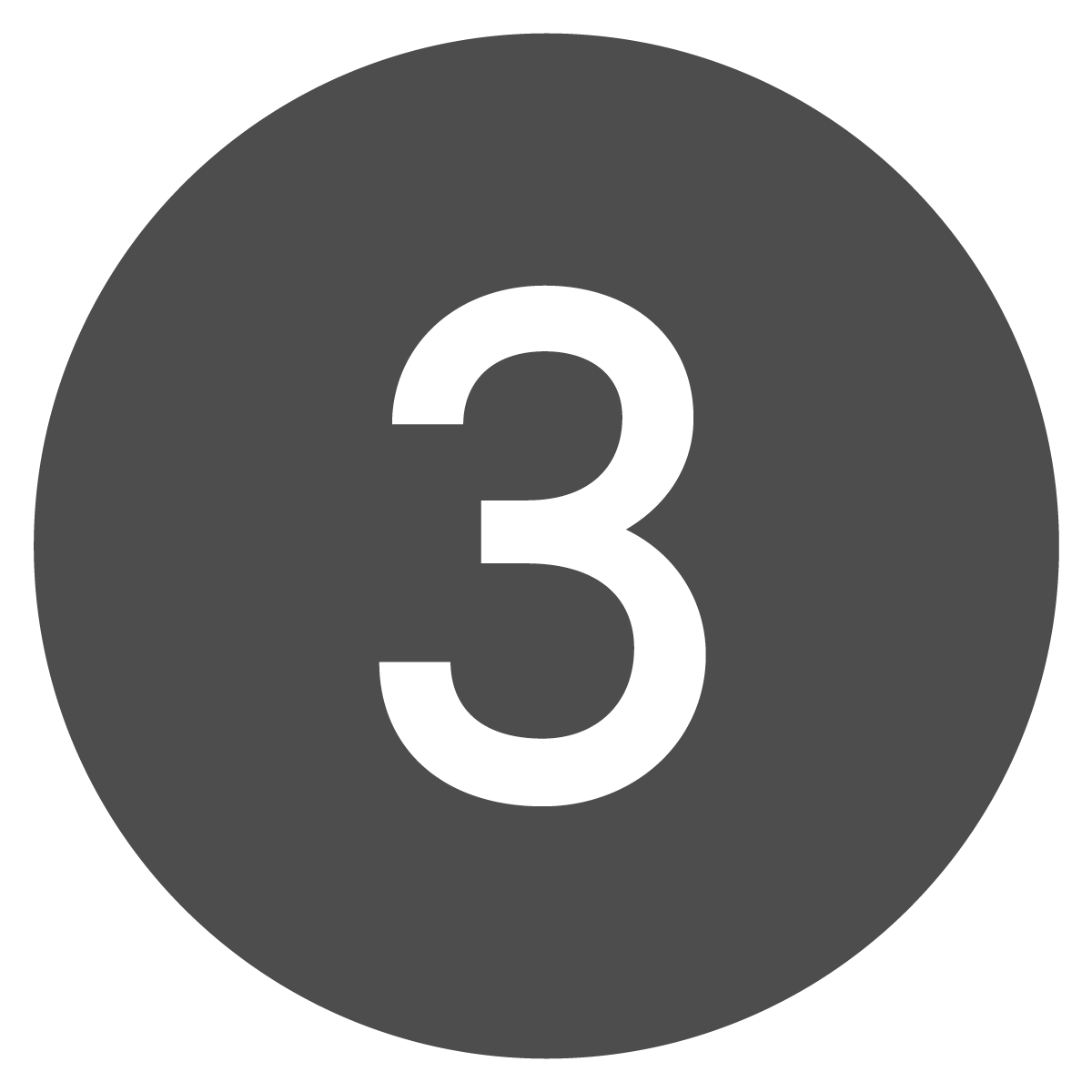 Circle button of the number three.