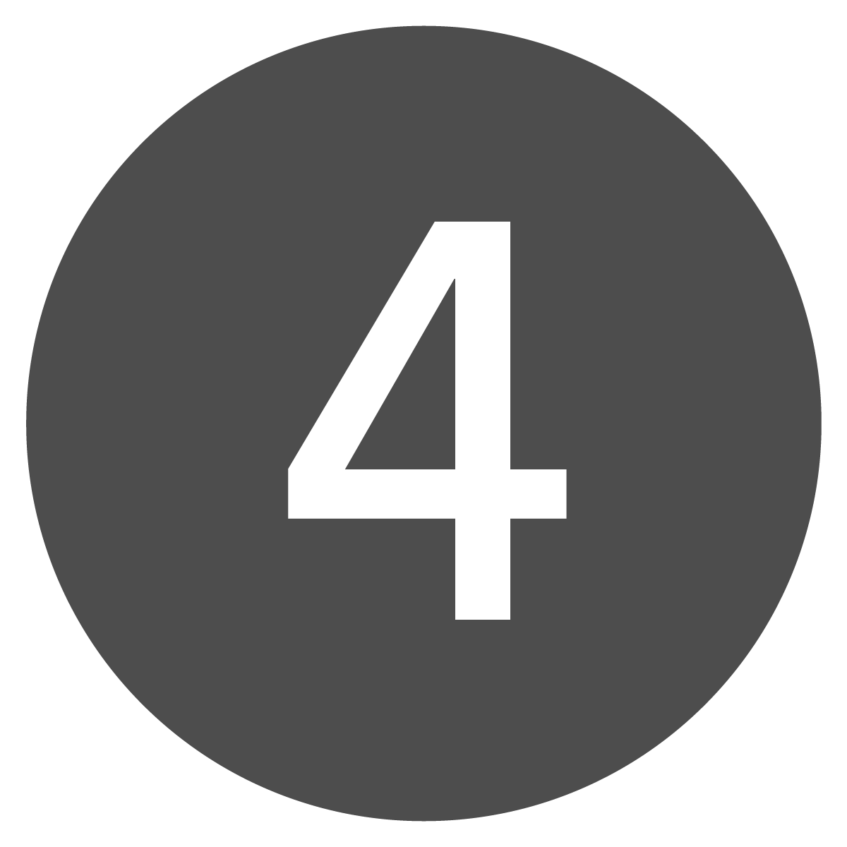 Circle button of the number four.