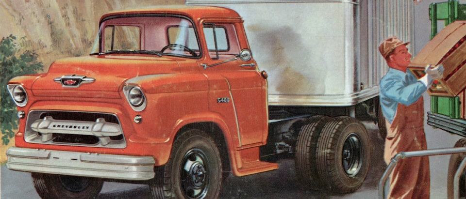 1955 Chevy Task Force Legends Of Chevy Trucks New Roads
