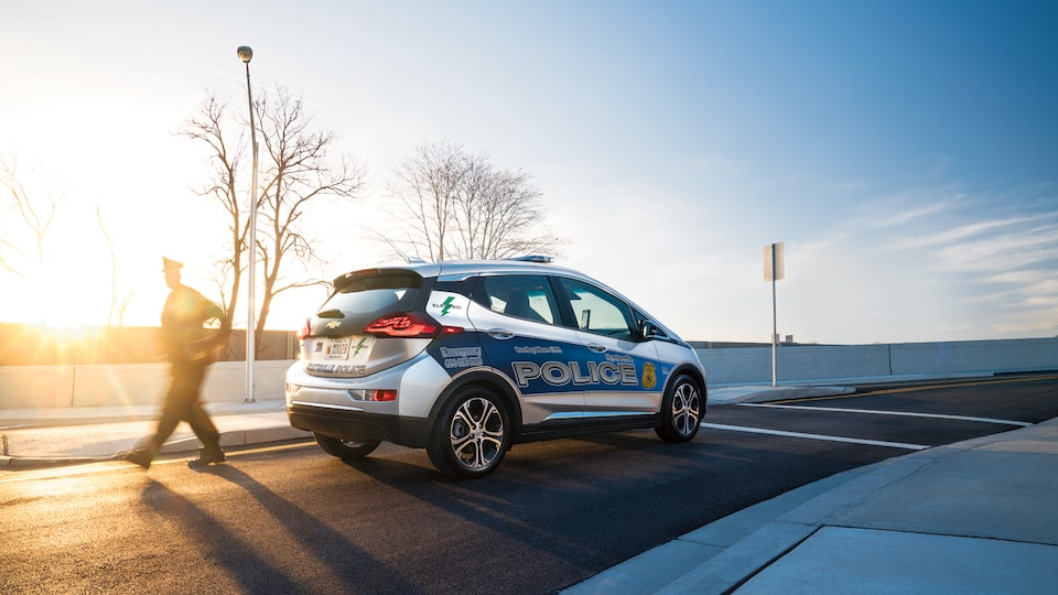 The Hyattsville, Maryland, police department's Bolt EV.
