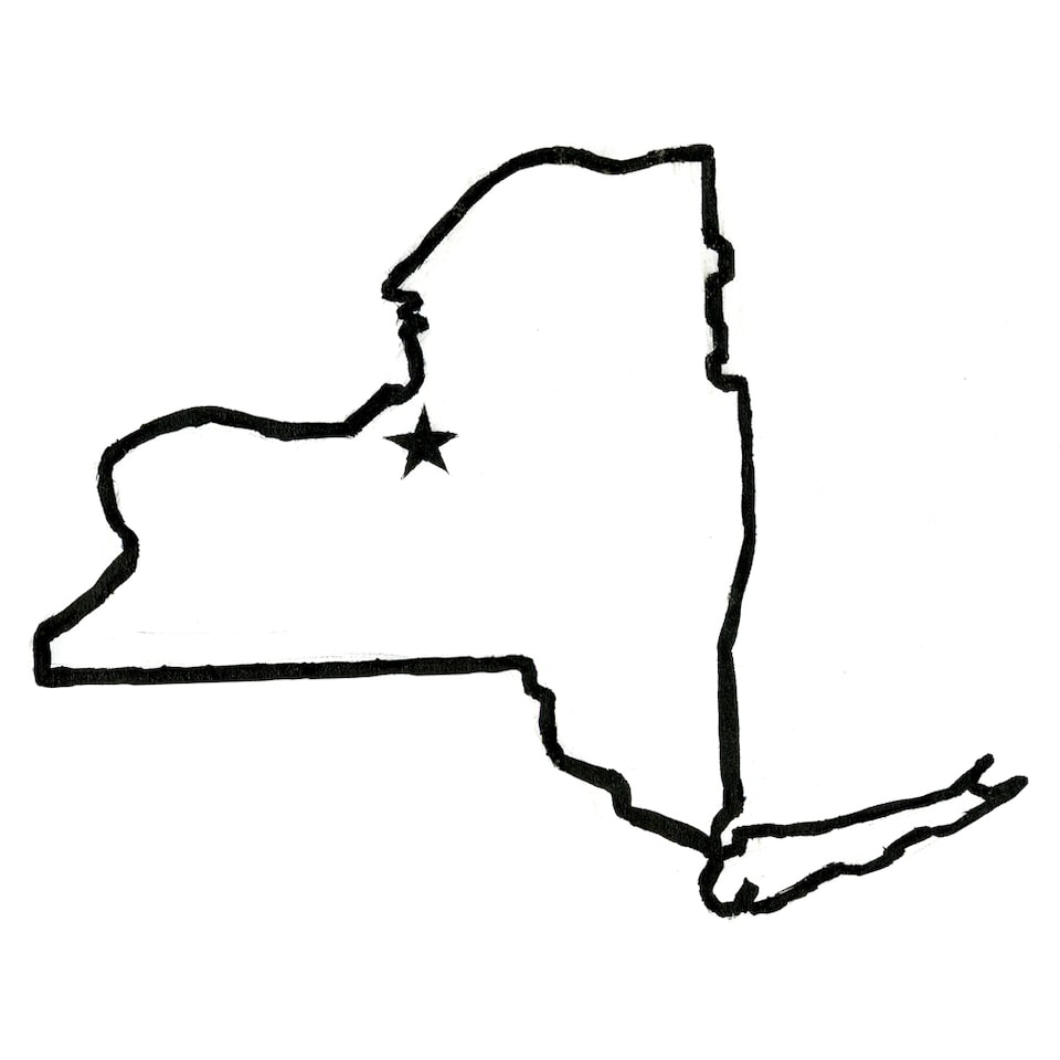 Illustration of the state of New York.