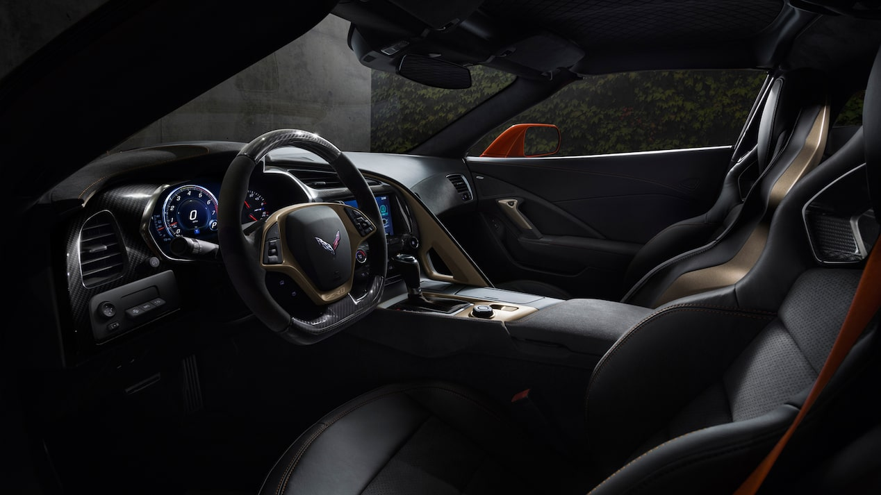 The interior of a 2019 Corvette ZR1.