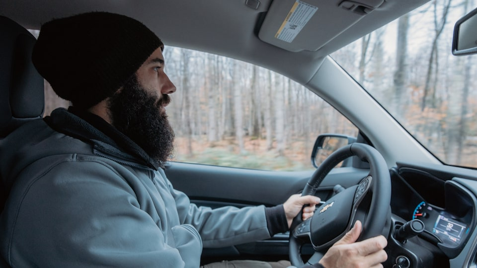 Chris Arace at the wheel of a 2018 Chevy Colorado Z71 Crew Cab.
