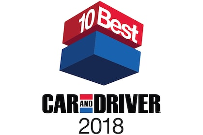 2018 Car and Driver 10Best