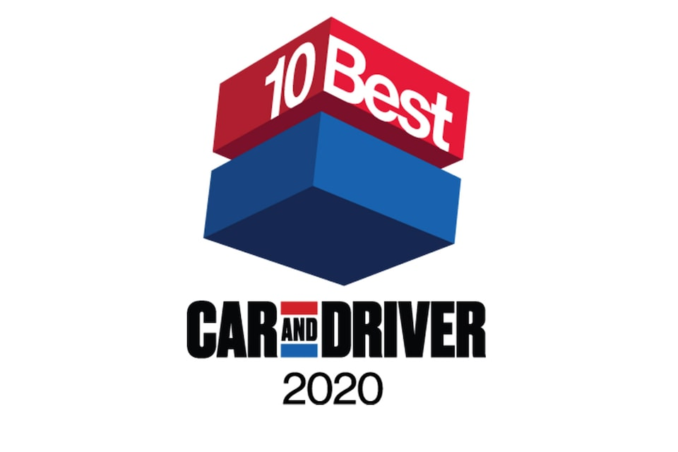 2020 Car and Driver 10Best Award