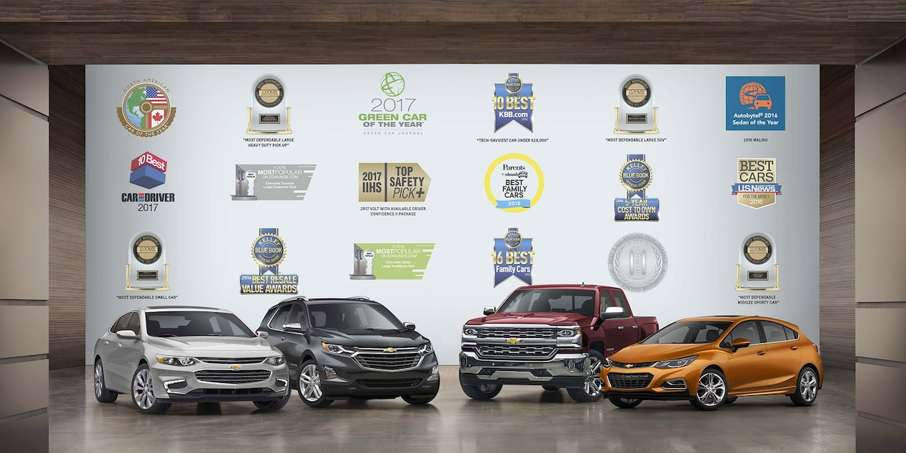 Most Awarded: Malibu, Equinox, Silverado, Cruze Hatch