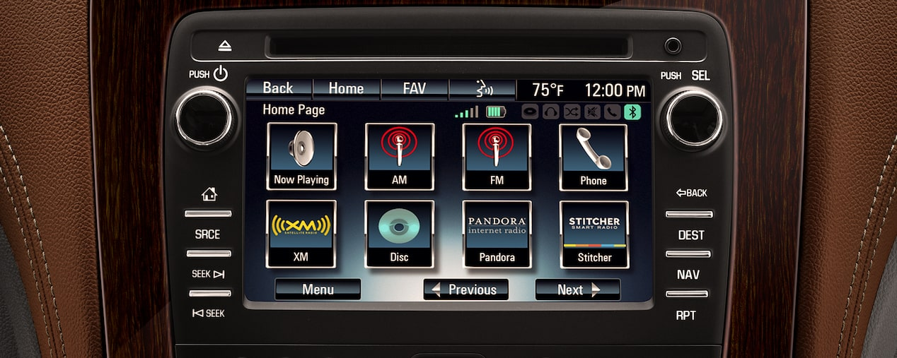 Chevrolet MyLink Radio: display