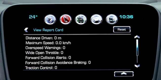Chevrolet Teen Driver: report card