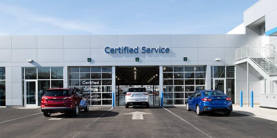 A Chevrolet dealership servicing Chevrolet vehicles