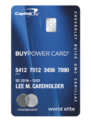 GM BuyPower MasterCard from Capital One