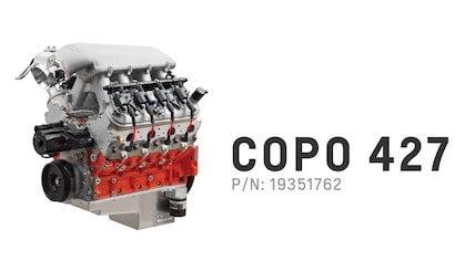 Chevrolet Performance offers the COPO 427 Racing Crate Engine P/N: 19351762 for purchase.