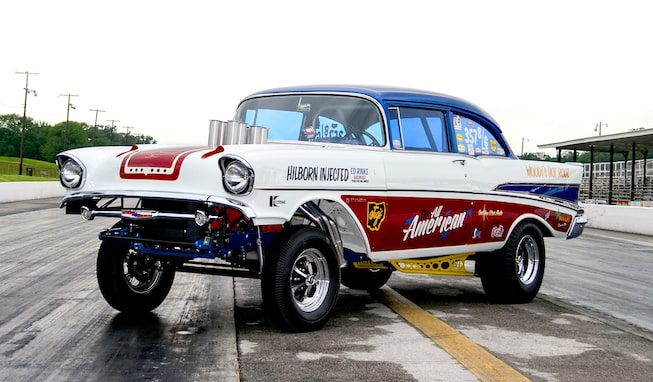 The 2017 Danchuck Tri-Five Nationals Golden Star '57 Chevy Gasser Giveaway Car Featured at Chevrolet Performance