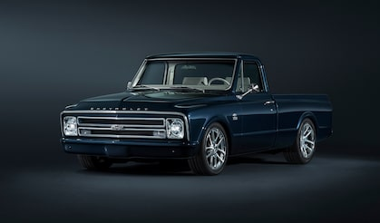 Centennial Blue 1967 Chevy C/10 Concept Truck And SEMA Featured At Chevrolet Performance