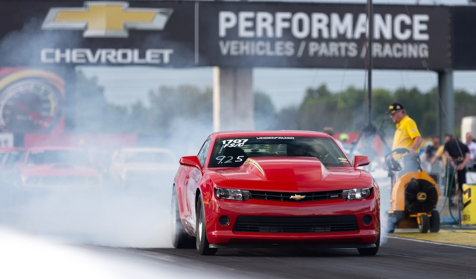 Chevrolet Performance Features A Look At The First Renewed COPO Camaro Down The Drag Strip. See What You're Missing.