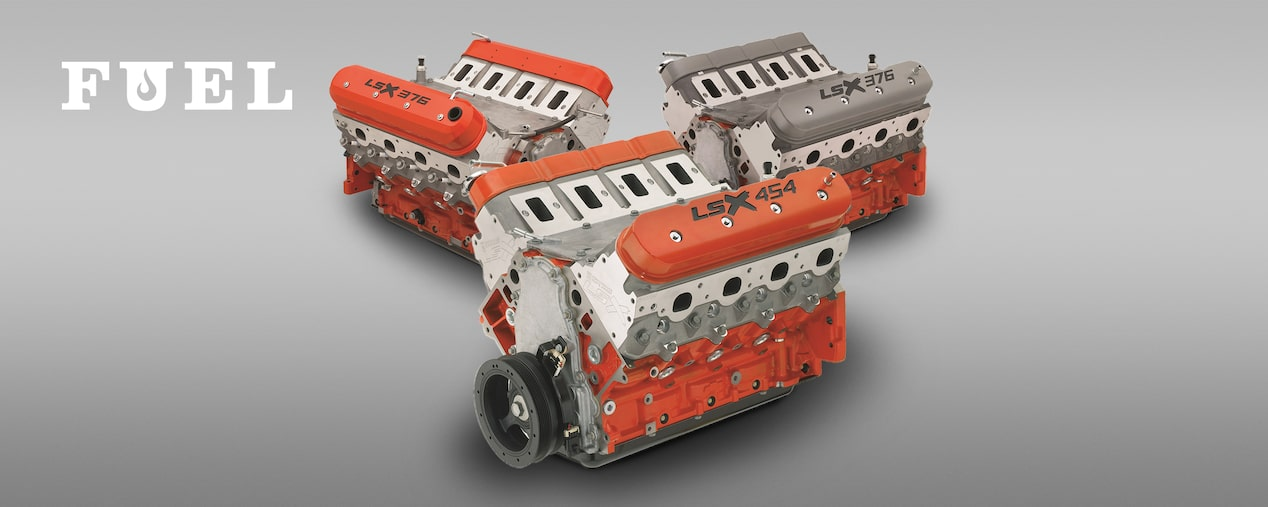 Chevrolet Performance Fuel Newsletter Features A Variety Of LSX Crate Engines Including Boburka's COPO Power Plant.