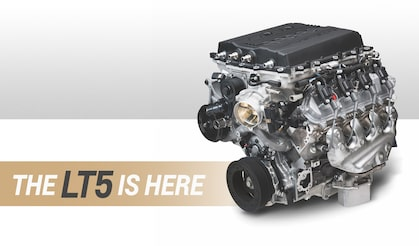 Chevrolet Performance Engine Spotlights The Power Behind The 2019 Corvette ZR1, The 755 HP Supercharged LT5 Crate Engine.
