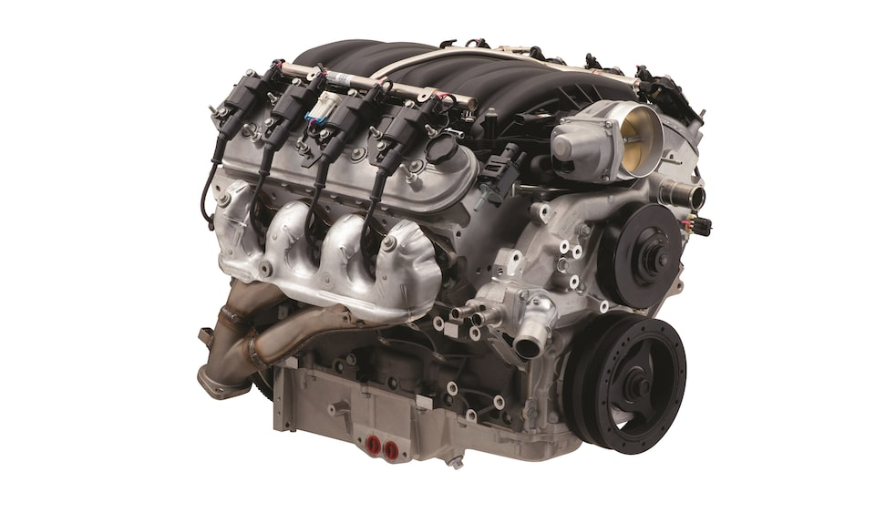 Chevrolet Performance Engine Spotlights The Legendary LS7 Crate Engine Part No. 19329246.
