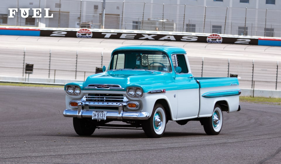 Chevrolet Performance Fuel Newsletter features Richard Espinosa's LS3-powered 1959 Apache Fleetside