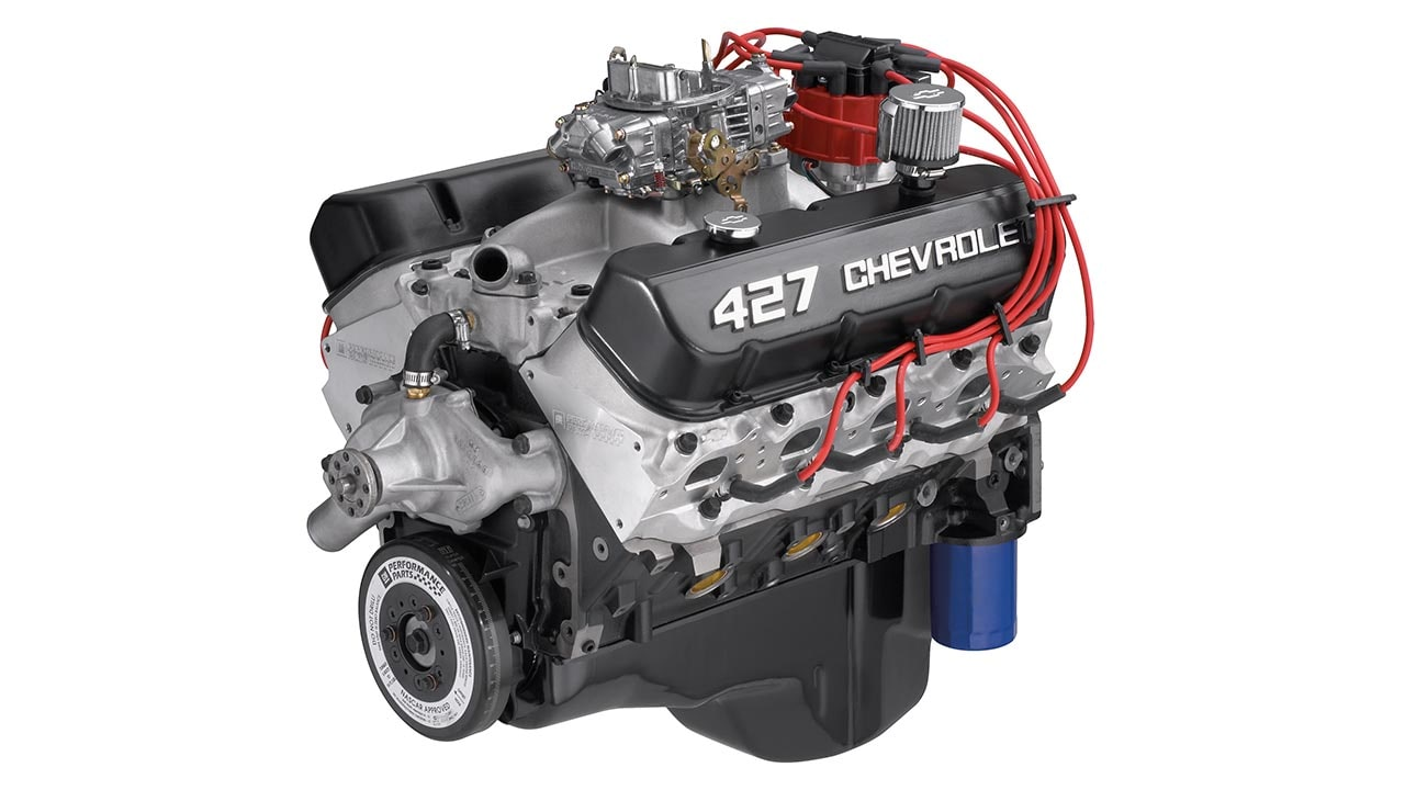 427 V8 Engine Diagram Doing Wiring The New Way Block Zz427 Big Crate Chevrolet Performance Rh Com Ford 46l Cutaway