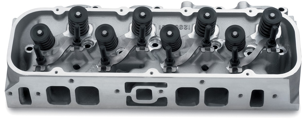 Bowtie Oval-Port Aluminum Cylinder Head Assembly Chevy Performance