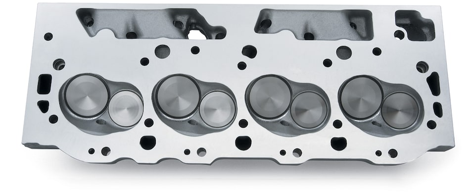 Aluminum Bowtie Oval-port Cylinder Head Chevy Performance