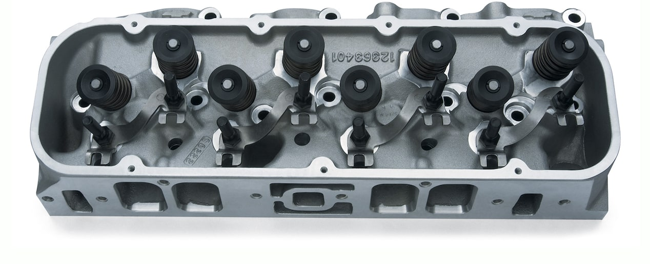 Bowtie Rectangular Port Aluminum Cylinder Head Assembly
