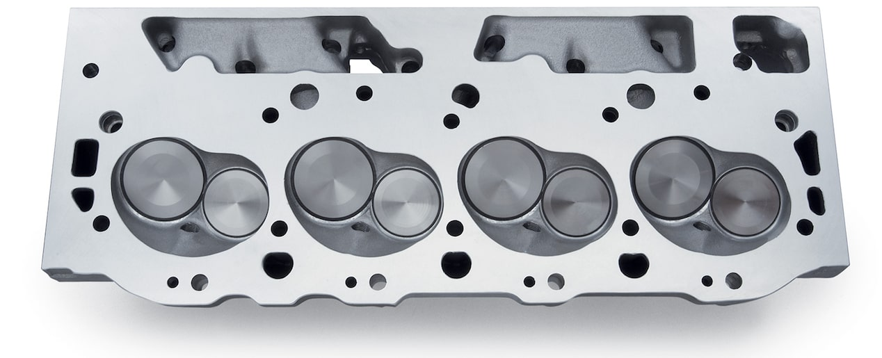 Chevy Performance Aluminum Bowtie Rectangular Port Cylinder Head