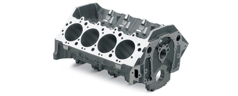 Chevrolet Performance Big-Block Bowtie Sportsman Engine Block Top Front View