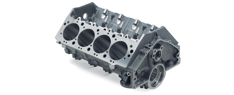 Chevrolet Performance Big-Block Bowtie Sportsman Engine Block Top Rear View