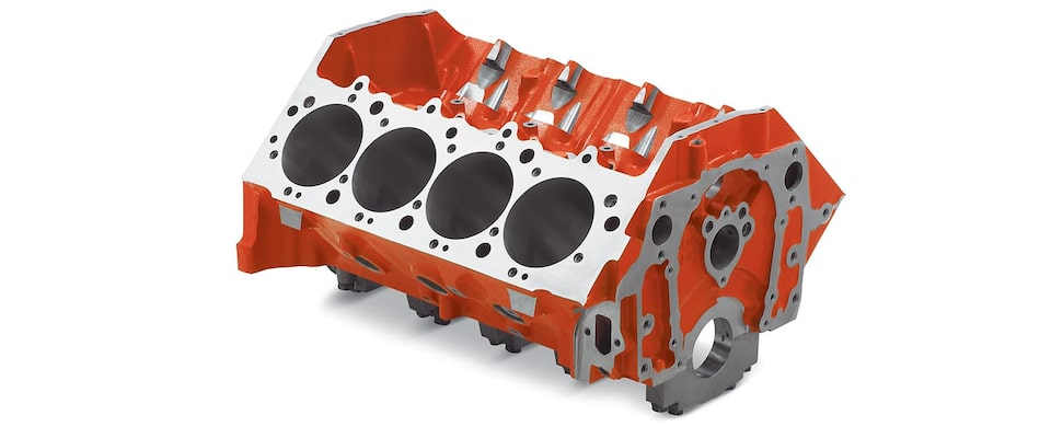 Chevrolet Performance Big-Block Tall Deck Sportsman Bare Engine Block Top Front View