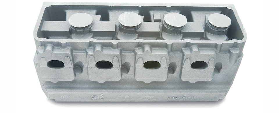 DRCE 2 Raw Aluminum Cylinder Head Chevy Performance