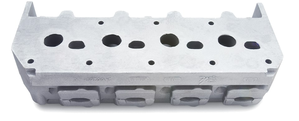 DRCE 2 Raw Aluminum Cylinder Head Assembly
