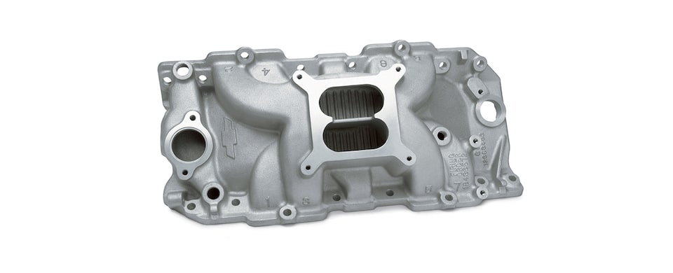 Chevrolet Performance Big-Block CNC-Port-Matched Intake Manifold For Engines With Oval Port, Square Bore, And Holley Carburetors Part No. 12363407