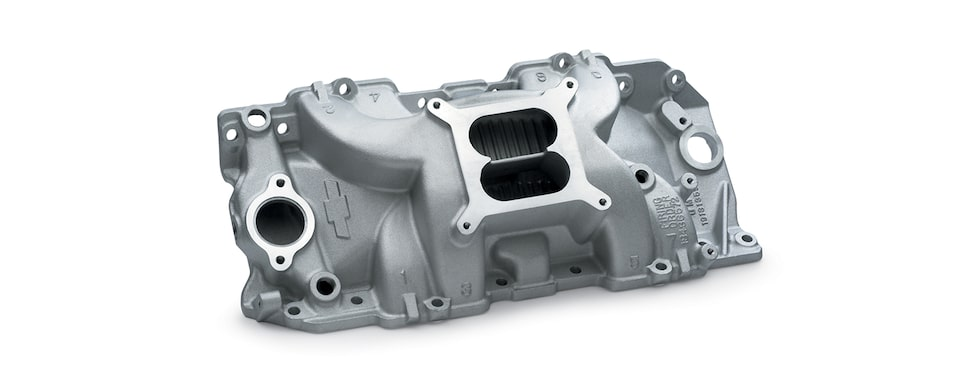 Chevrolet Performance Big-Block High-Rise Intake Manifold For Engines With Rectangle Port, Square Bore, And Holley Carburetors Part No. 19131359