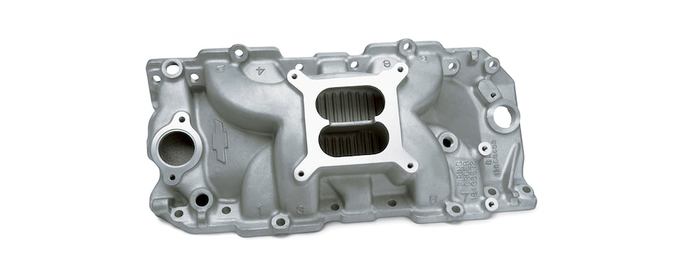 Chevrolet Performance Big-Block Intake Manifold For Engines With Oval Port, Square Bore, And Holley Carburetors Part No. 12363406