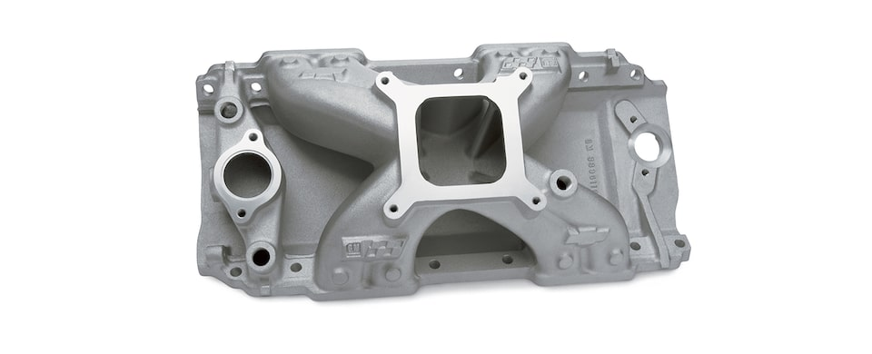 Chevrolet Performance Big-Block Intake Manifold For ZZ572/620 Engines With Square Bore, And Holley Carburetors Part No. 88961161