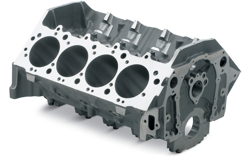 Cast Iron Bowtie Race Blocks from Chevrolet Performance