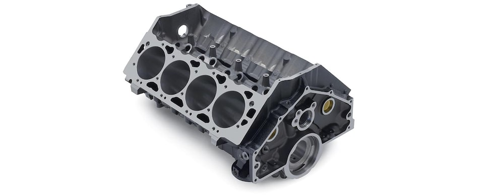 Chevrolet Performance Big-Block 502 Mark IV/Gen VI Bare Engine Block Top Rear View