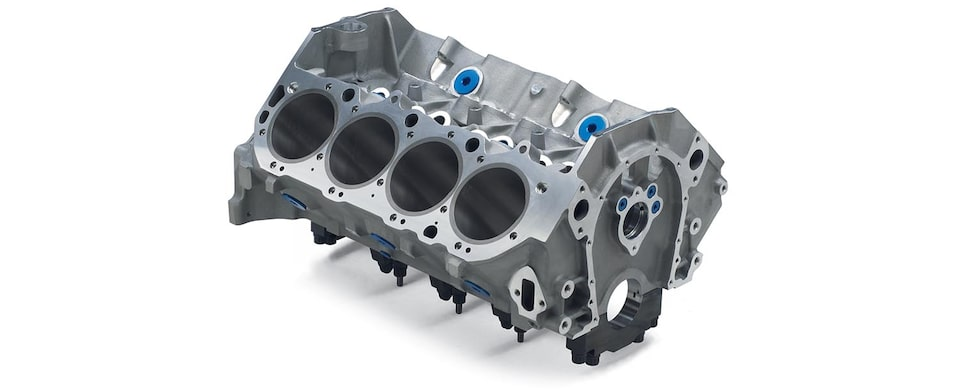 Chevrolet Performance Big-Block ZL1 Aluminum Engine Block Top Front View
