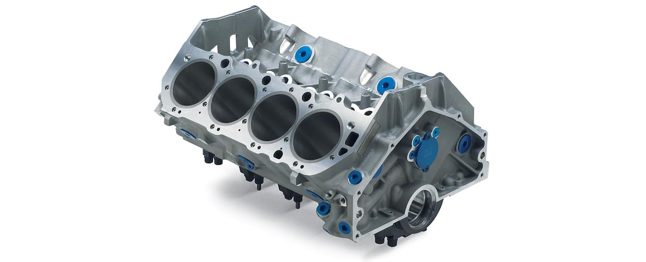 Chevrolet Performance Big-Block ZL1 Aluminum Engine Block Top Rear View