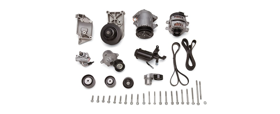 LS9 Accessory Drive System with A/C Part No. 19243524 from Chevrolet Performance