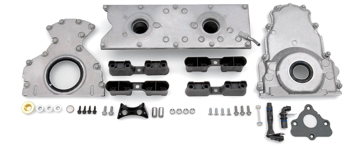 Chevrolet Performance LS/LT/LSX-Series Production Cylinder LSX Bowtie Engine Block Completion Components for Gen III