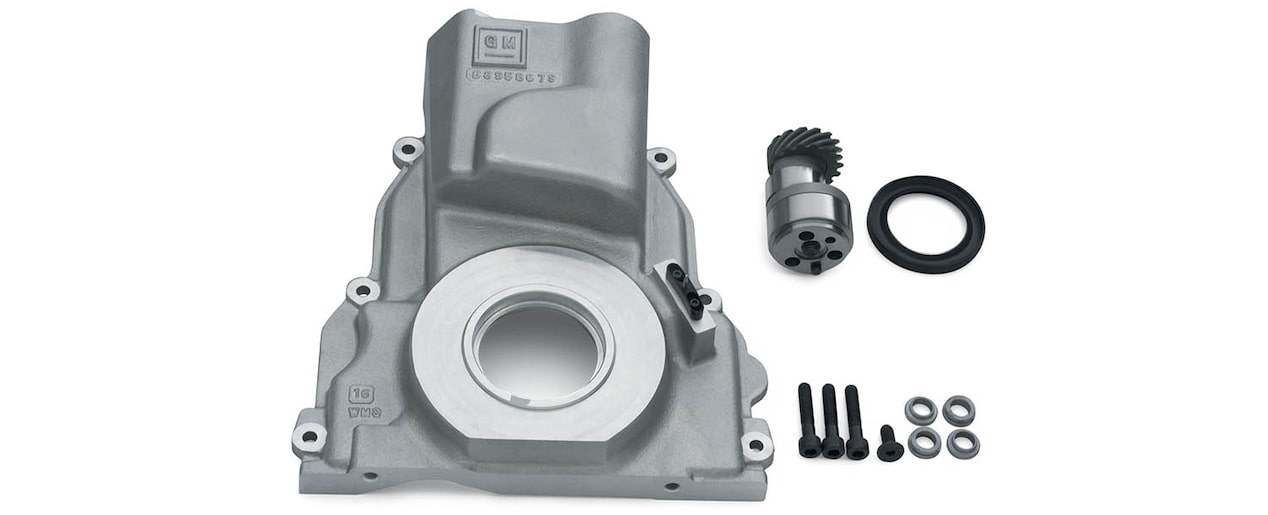 Chevrolet Performance LS/LT/LSX-Series Production Cylinder LSX Bowtie Engine Block LS Front Distributor Drive Cover