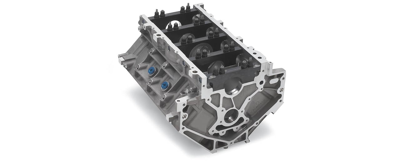 Chevrolet Performance LS/LT/LSX-Series Production Cylinder Aluminum C5R Racing Engine Block Rear View