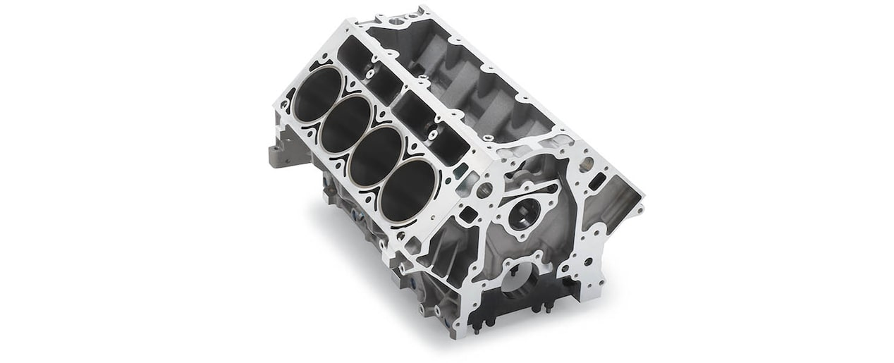 Chevrolet Performance LS/LT/LSX-Series Production Cylinder Aluminum C5R Racing Engine Block Top Front View