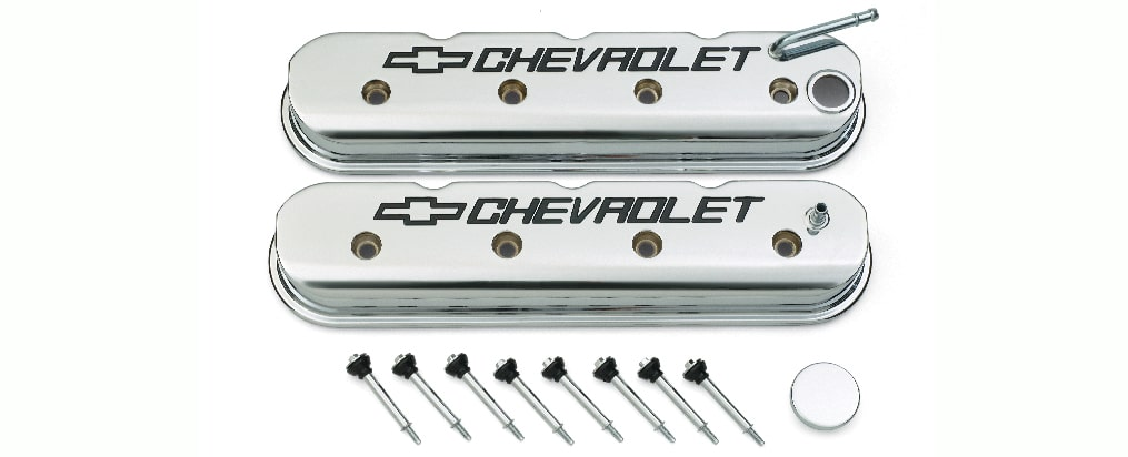 Chevrolet Performance LS Chrome Chevrolet Valve Cover Kit Part No. 19156433