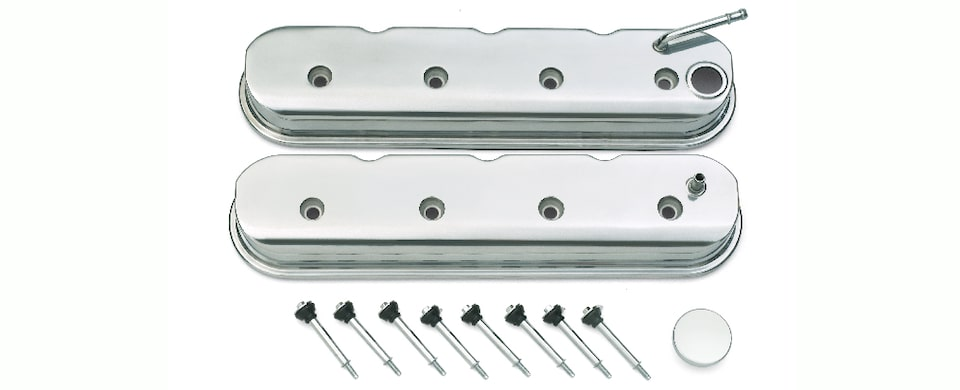 Chevrolet Performance LS Polished Valve Cover Kit Part No. 19171502