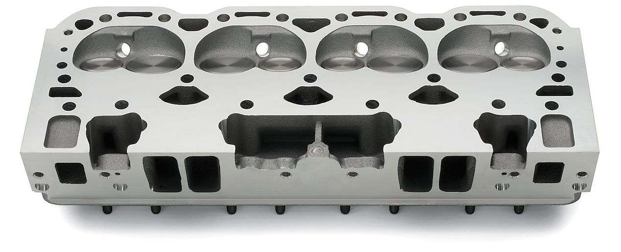 Chevy Performance Aluminum Fast-Burn Cylinder Head Assembly